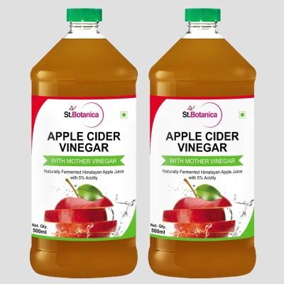 St. Botanica Natural Apple Cider Vinegar with Mother Vinegar Raw, Unfiltered Sports Drink(500 ml Pack of 2)