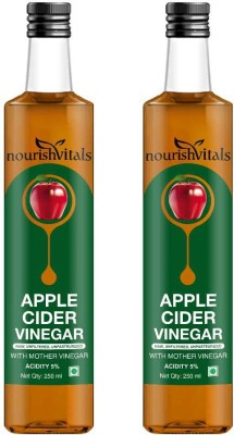 NourishVitals Apple Cider Vinegar With Mother Vinegar, Raw, Unfiltered & Undiluted (Pack Of 2) Sports Drink(250 ml Pack of 2)