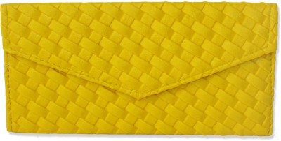 WeddingPitara Fancy Shagun Yellow Leather Envelopes(Pack of 3 Yellow)