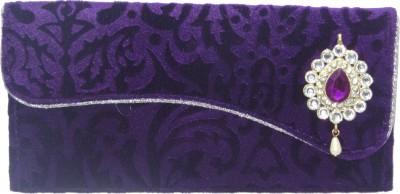 WeddingPitara Fancy Shagun Velvet Purple Envelopes(Pack of 3 Purple)