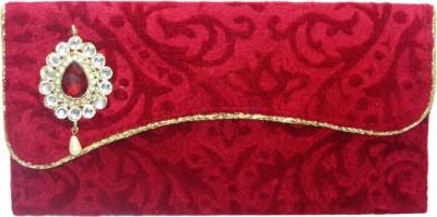 WeddingPitara Fancy Shagun Velvet Red Envelopes(Pack of 3 Red)