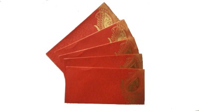 Gcpc RED Shagun Metallic Envelopes