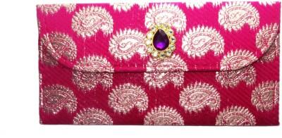 WeddingPitara Fancy Shagun Brocade Pink Envelopes(Pack of 3 Pink)
