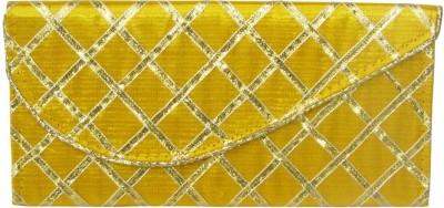 WeddingPitara Fancy Shagun Yellow Lace Envelopes(Pack of 3 Yellow)