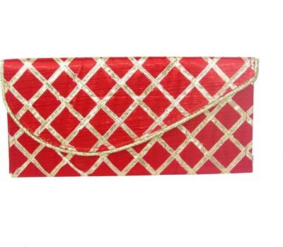 WeddingPitara Fancy Shagun Red Lace Envelopes(Pack of 3 Red)