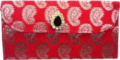 WeddingPitara Fancy Shagun Brocade Red Envelopes(Pack of 3 Red)