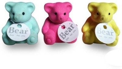 Globalgifts ERASER,RUBBER Non-Toxic TEDDY Shaped SMALL Erasers