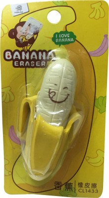 Priyankish Smart Kids Non-Toxic Banana Eraser Shaped Big Erasers