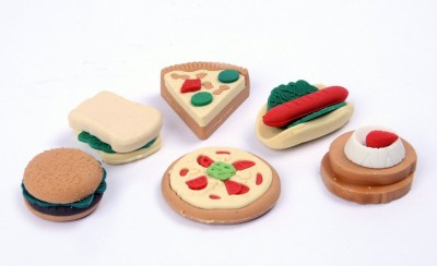 COI Erasers For Kids Non-Toxic Pizza Shaped Small Erasers