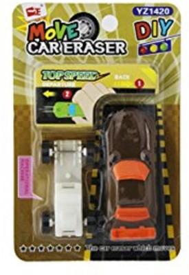 Shopaholic NA Non-Toxic Car Shaped small Erasers(Set of 2, multi)