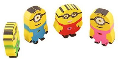 Stuff Jam Cartoon Non-Toxic Minions Shaped Small Erasers