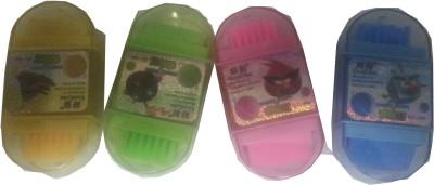Hina 3 in 1 eraser sharpner & brush Non-Toxic oval Shaped small Eraser
