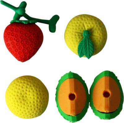 Triston Home Fruits Multi Sahpes Shaped Medium Erasers