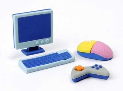 COI Kids Non-Toxic Computer Shaped Small Erasers