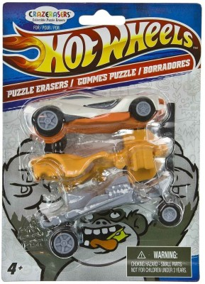 Hot Wheels Super Clean Non-Toxic Car Shaped Medium Eraser