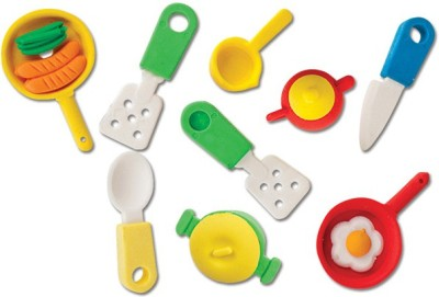 Rajica Kitchen Set Theme Fancy 3D Non-Toxic Mixed Shaped Mini Erasers