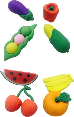 Priyankish Smart kids Non-Toxic Fruits & Vegetable Eraser Set Shaped Small Erasers