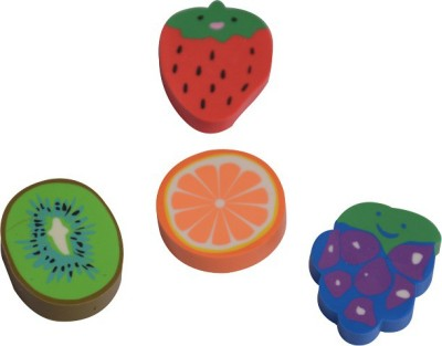 Priyankish Smart Kidz Non-Toxic Sliced Fruit Ersaers Shaped Medium Erasers