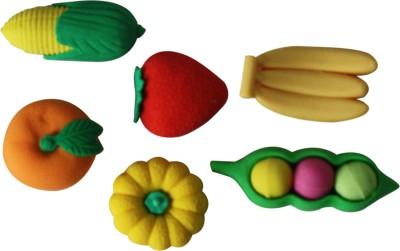 Triston Home Fruits Non-Toxic Multi Sahpes Shaped Medium Erasers