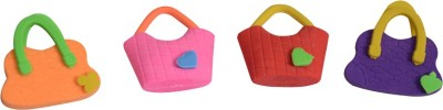 Priyankish Smart Kidz Non-Toxic Hand Bag Erasers Shaped Medium Erasers