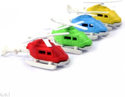 COI KIDS Non-Toxic HELICOPTER Shaped SMALL Erasers(Set of 1, MULTI COLOUR)