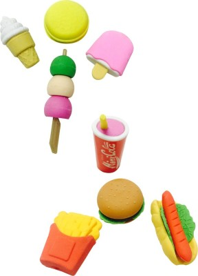 Priyankish Smart Kids Icecream & Snacks Non-Toxic Mix Shaped Small Erasers