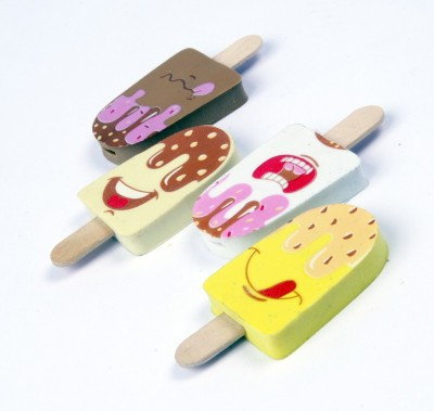 COI KIDS Non-Toxic ICECREAM ERASERS Shaped SMALL Erasers