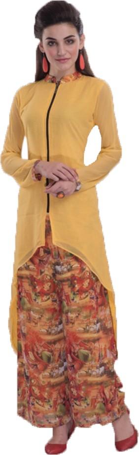 Jaune Womens Kurta and Dhoti Pant Set