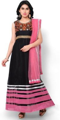 FashionsBazaar Net Embroidered Semi-stitched Salwar Suit Dupatta Material