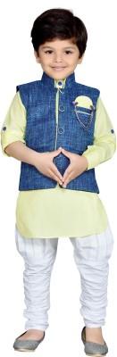 AJ Dezines Boy's Kurta, Waistcoat and Pyjama Set