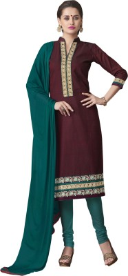 Kvsfab Women's Kurta and Churidar Dupatta Set at flipkart