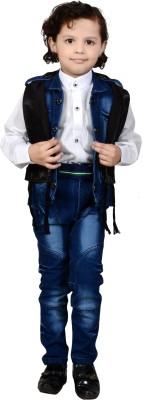 J.D.Creation Boy's Shirt, Waistcoat and Pant Set