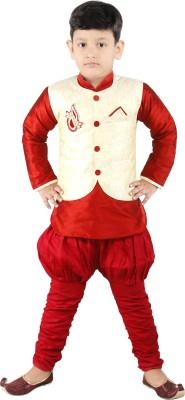 FTC Bazar Boy's Kurta, Waistcoat and Pyjama Set