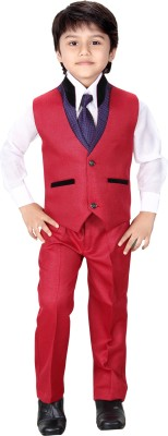 Jk Boy's Blazer, Shirt and Trouser Set