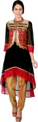 Varja Women's Ethnic Jacket, Blouse and Pallazo Set
