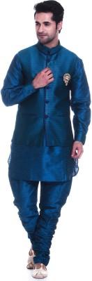 TAG 7 Men's Kurta, Waistcoat and Pyjama Set