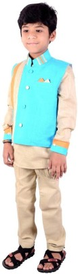 Little Guys Boy's Kurta, Waistcoat and Pyjama Set