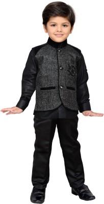 AJ Dezines Baby Boy's Shirt, Waistcoat and Pant Set