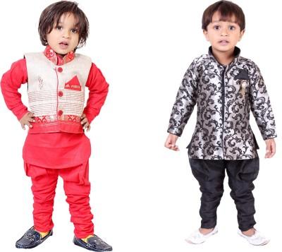 Tiny Toon Boy's Kurta, Waistcoat and Breeches Set