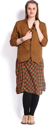 Vishudh Women's Kurta & Waistcoat Set