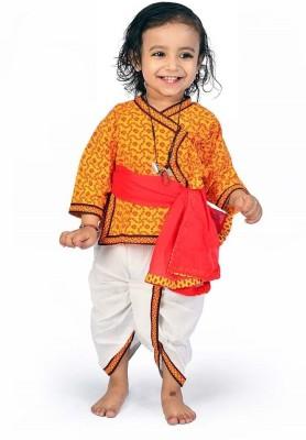 Great Art Boy's Angarkha, Dhoti & Dupatta Set