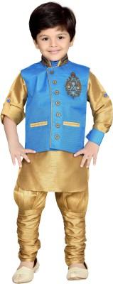 AJ Dezines Boy's Kurta, Waistcoat and Breeches Set