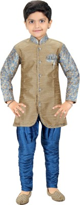 Kute Kids Baby Boy's Kurta and Breeches Set