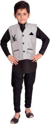 Kabeer Boy,s Kurta, Waistcoat and Pyjama Set