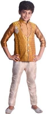 Vastramay Boy's Kurta, Waistcoat and Pyjama Set