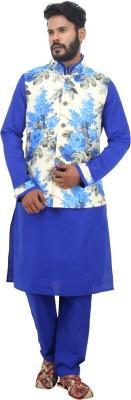 Shahjada Men's Kurta, Waistcoat and Pyjama Set