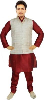 JBN Creation Men's Kurta, Waistcoat and Pyjama Set