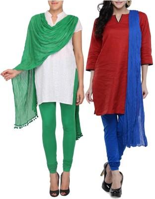 Womens Cottage Women's Churidar and Dupatta Set