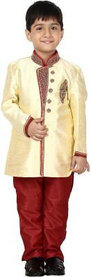 Dsyuvraaj Boy's Sherwani and Churidar Set