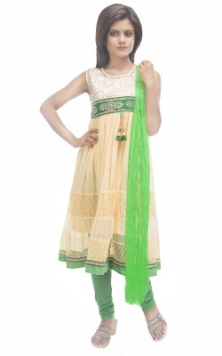 Retaaz Girl's Kurti, Legging and Dupatta Set